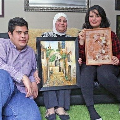 Al Hariri Family Featured at OMAH's Women's Day Art Show